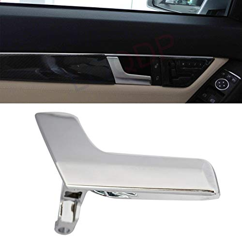 LQQDP New 1pcs Chrome Interior Door Handle Kit for Driver Left Side (Front or Rear) Fit for Mercedes-Benz W204 C-Class C180/C200/C230/C250/C280/C300/C350/C63 AMG GLK-Class GLK250/GLK280/GLK300/GLK350