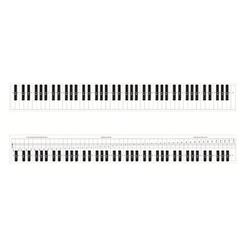 Eventualx Übungskarte für Klavier Klaviertastatur Übungskarte 88 Tasten Klaviertastatur Fingersatz Übungskarte Blatt mit Notizen Klavier-Lernhilfeset für Anfänger
