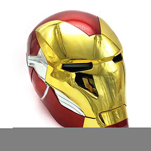 GYMAN Avengers Iron Man Casco Elctrico Relacin 1: 1 Altura Realista Usable Accesorios De Cosplay De Halloween con Control Tctil Y Funcin De Saludo De Voz,60cm