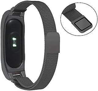 XIHAMA For Xiaomi miバンド2 腕時計 メタルバンド ステンレススチール リストバンド ストラップ シャオミ Mi Band 2 交換用フィットネス スポーツブレスレット (ブラック(black))