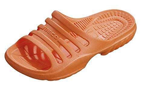 BECO Chanclas de baño para niños, Color Naranja, 28