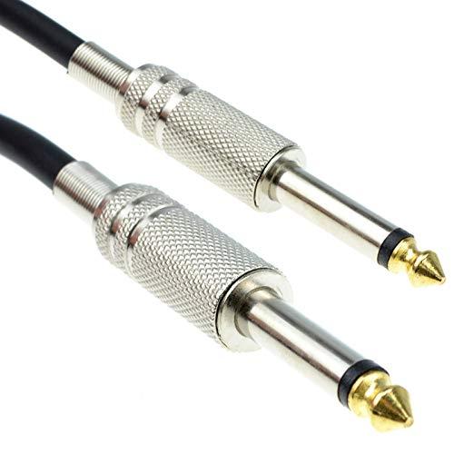 kenable PRO 6.35mm Low Noise Guitar Lead Cable Gold Metal Connectors 4m...
