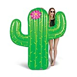 BigMouth Inc Giant Cactus Pool Float, 5' Tall Funny Inflatable Vinyl Summer Pool or Beach Toy, Patch Kit Included