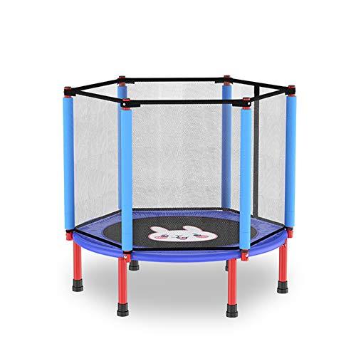 KKCD Trampolín Niños con Caja Neta De Salto Mat Mini Trampolín Ejercicio para Adultos Apropiados para Uso En Interiores Y Exteriores Yard,Azul