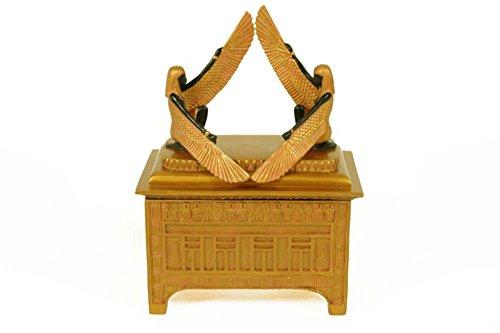CAPRILO Joyero Cuadrado Decorativo de Resina Egipcio Arca de La Alianza Cajas Multiusos. Joyeros.Regalos y Complementos. Figuras Resina. 12 x 7 x 16 cm.