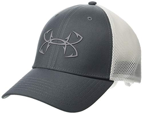 Under Armour Men's Fish Hook 2.0 Cap , Pitch Gray (012)/Steel , Large/X-Large