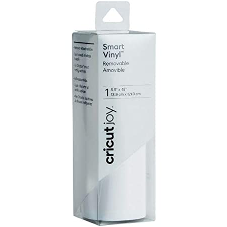 "Cricut Joy Smart Vinyl - Removable - 5.5"" x 48"", Adhesive Decal Roll - White"