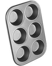6 filiżanek muffinek babeczka naczynie do pieczenia patelnia nieprzywierająca metalowa czekolada ciasto cukierki forma forma forma uchwyty kuchenne
