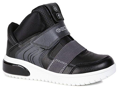 GEOX J XLED BOY Sneakers garcons Zwart Hoge sneakers