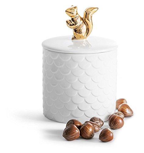 Sagaform Aufbewahrungsdose mit Deckel, Stein, Mehrfarbig, 10 x 10 x 15 cm