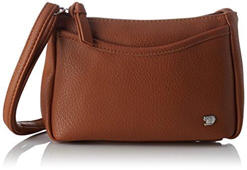 TOM TAILOR Umhängetasche Damen Cilia Schultertasche, Braun (Cognac), 4x14x21 cm, TOM TAILOR Handtaschen, Taschen für Damen, klein