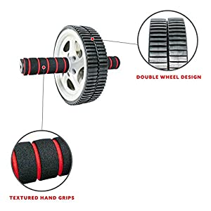 Sunny Health & Fitness Ab Roller Wheel for Abdominal Exercise Core Trainer Wheel Roller - NO. 003 , Black