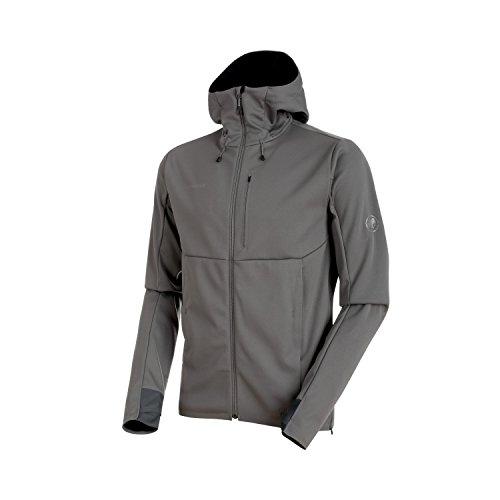 Mammut, Herren Softshell-Jacke Ultimate V mit Kapuze, grau (titanium-black), XXL