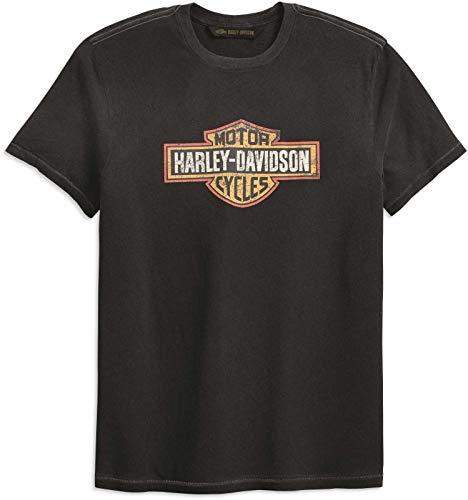 HARLEY-DAVIDSON Herren T-Shirt Tee Shirt Vintage Angeraurtes Bar&Shield Logo Bwl, XL