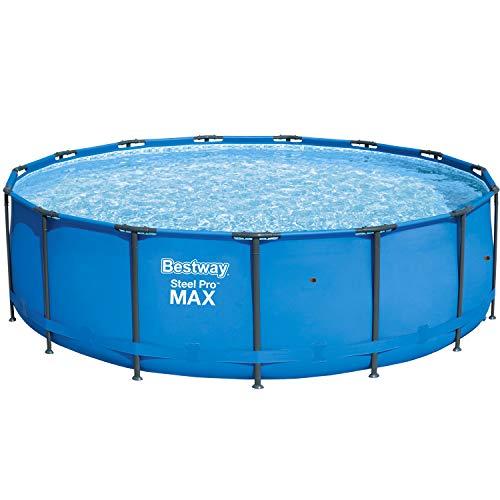 Bestway Steel Pro MAX Frame-Pool, 457 x 457 x 122 cm, rund, blau, 16.015 Liter, ohne Pumpe und Zubehör, Ersatzteil, Ersatzpool