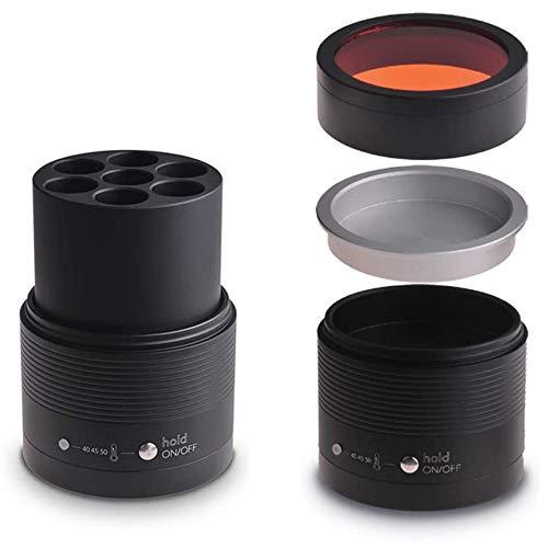Dental Resin Composite Softener Heater Dental Material Warmer with Light Filter Cover 40℃-50℃ 110V