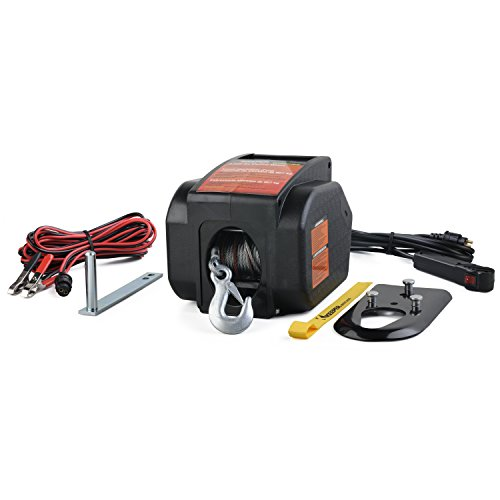KEEPER KTSL2000RM 12V DC Rapid Mount Portable Winch with Handheld Remote - 6000 lbs. Load Capacity