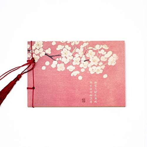 Blocs y Cuadernos de Notas Página for Colorear Estilo Chino Clásico Cuaderno Cuaderno Retro Blocs y Cuadernos de Notas (Color : F)