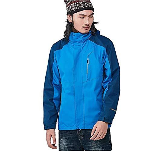 TOPYL Heren Lichtgewicht Geïsoleerde Mountain Ski Jas met Hooded, Waterdichte Kouddichte Winter Warmer Kleding voor Outdoor Camping Wandelen