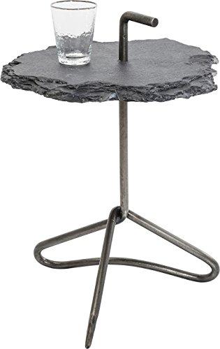 Kare Durchmesser 48cm Beistelltisch Vulcano Handle, Grauer Couchtisch aus Naturstein, (HxBxT) 48x48x60 cm