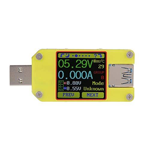 Contador de corriente de seguridad tipo C de multímetro USB de alimentación para probador de pantalla a color APP USB 3.0 (UM34C)