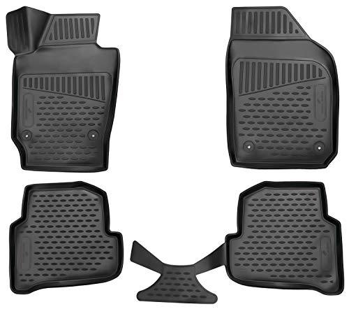 Walser XTR Gummifußmatten kompatibel mit Skoda Fabia Baujahr 2014 - Heute, passgenaue Auto Gummimatten, Autofußmatten Gummi