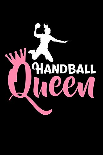 Handball Queen: Dot Grid Notebook (6x9 inches) with 120 Pages