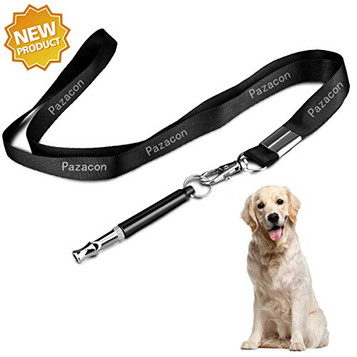 Pazacon Dog Whistle, Professional Dog Training Whistle to Stop Barking,Professional Ultrasonic Adjustable High Pitch Ultra-Sonic Sound Tool with Free Premium Quality Lanyard Strap(New)