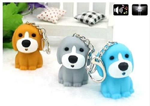 Familienkalender Hund Welpe Schlüsselanhänger mit LED und Sound (Wau Wau)   Geschenk   Dog   Berner   Labrador   grau