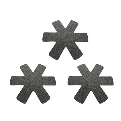 BESTonZON 12 stücke Topf und Pfanne Protektoren Kochgeschirr Protector Töpfe und Pfannen Teiler Separator Anti Slip Geschirr