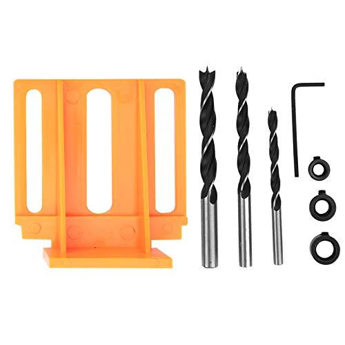 Localizador de punzones, robusto localizador de orificios rectos Cómodo para trabajos en madera(orange)