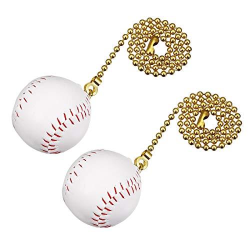YeVhear Baseball-Anhänger, 30,5 cm lang, Kupfer, Weiß, 2 Stück