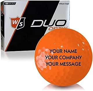 Wilson Staff Duo Soft Optix Matte Orange Personalized Golf Balls