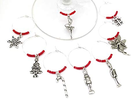 Nutcracker Ballet Wine Charms Christmas Gift Nut cracker Ballet Gift Toy Soldier Sugar Plum product image
