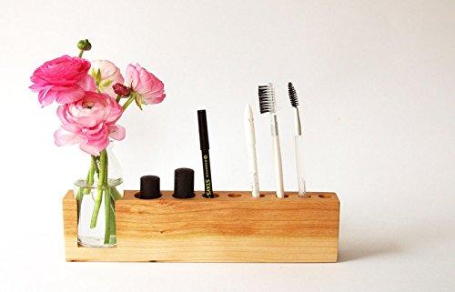 Kosmetikständer mit Vase, Aufbewahrung Kosmetik, Stifthalter