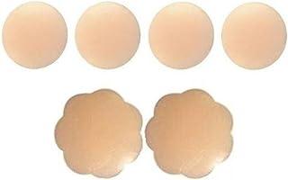 3 Paires de caches-Tetons adhesifs Invisibles reutilisables en Silicone 1 Forme de Fleur 2 de Forme Circulaire Prix!! Gaoominy Caches Tetons