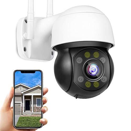 FHD 5MP WiFi IP Cámara de Vigilancia Exteriores Cámara PTZ Exterior,IP66 Impermeable,30M Visión Nocturna,Seguimiento Corporal,Sonido de Alarma DIY,Audio Bidireccional,Onvif2.0 【Cámara+32G-TF-Tarjeta】