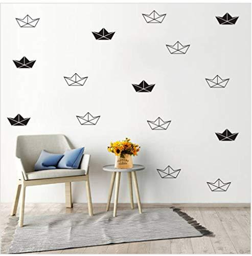 zxwd wasserdicht Wandsticker Geometrische Origami Kaninchen Fuchs Flugzeug BootAufkleber an der Wand für Kinderzimmer Dekor DIY Vinyl Aufkleber Home Wandbild