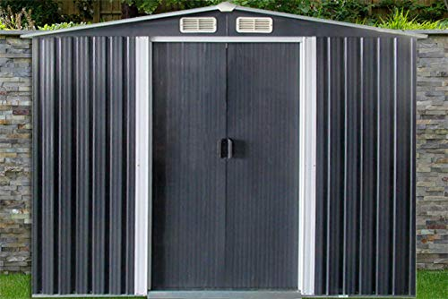 dirty pro tools Metal Shed Width 10 ft x Depth 12 ft with base Garden shed