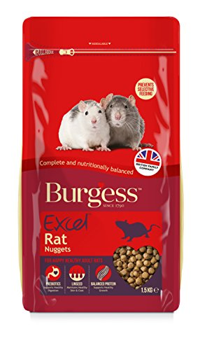 Burgess Excel Lot de 4 pépites de Rat 1,5 kg