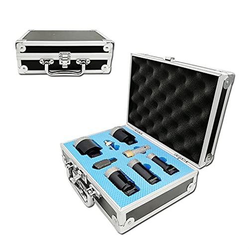 YUNJINGCHENMAN Sierra de agujero 8 unids/kit diamante taladro Core Bits Sets para azulejos mármol M14 rosca agujero Sierra tamaño mixto más 3/8 'Hex y M14 adaptador