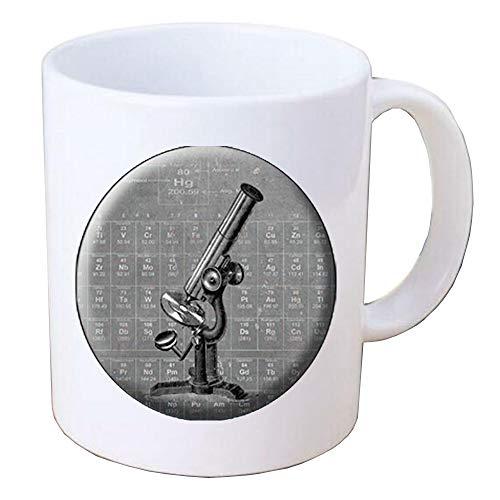 MICROSCOPE Coffee Mug Science Coffee Mug STEM Coffee Mug Biology Coffee Mug Chemistry Coffee Mug Microscope Jewelry Science Jewelry Science Gifts.F064