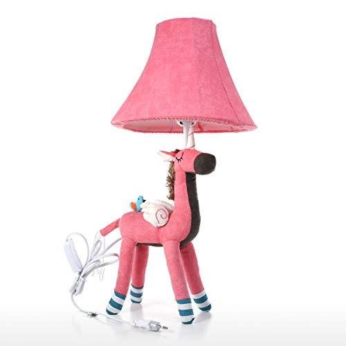 Tooarts Unicorn Tischlampe Rosa EU-Stecker Dekorative Schreibtisch Tischlampe Tier Baumwolle Lampe für Kinder mit Led-Birne