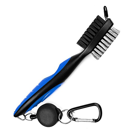 Golf Club Cleaning Brush and Groove Cleaner with Retractable Clip, Extends...