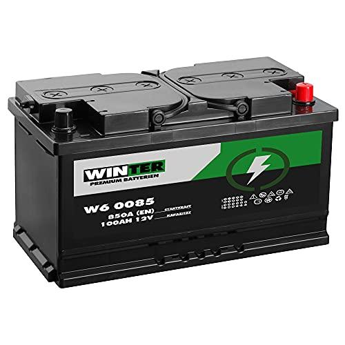 Winter Premium Autobatterie 12V 100Ah 850A/EN statt 88Ah 90Ah 95Ah