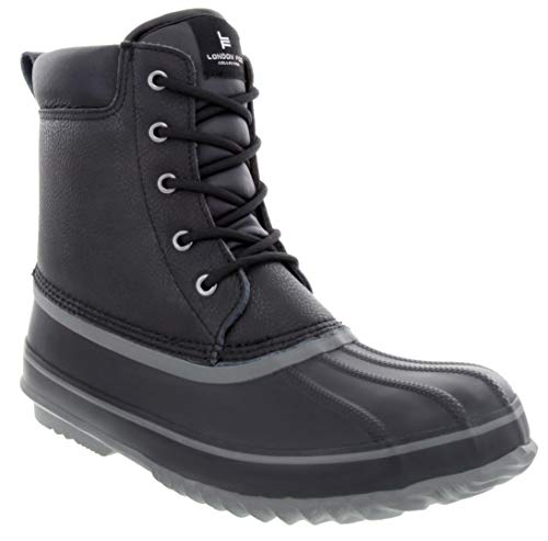 LONDON FOG Mens Ashford Waterproof and Insulated Duck Boot Black 12 M US