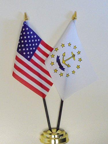1000 Flags état de Rhode Island et des États-Unis d'amitié Drapeau de Table écran 25 cm (25,4 cm)