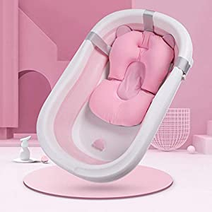 Alfombrilla de baño para bebé recién nacido cojín de baño suave cojín de ducha soporte de seguridad asiento de baño en la parte inferior de la edad bambú 3D nido de abeja