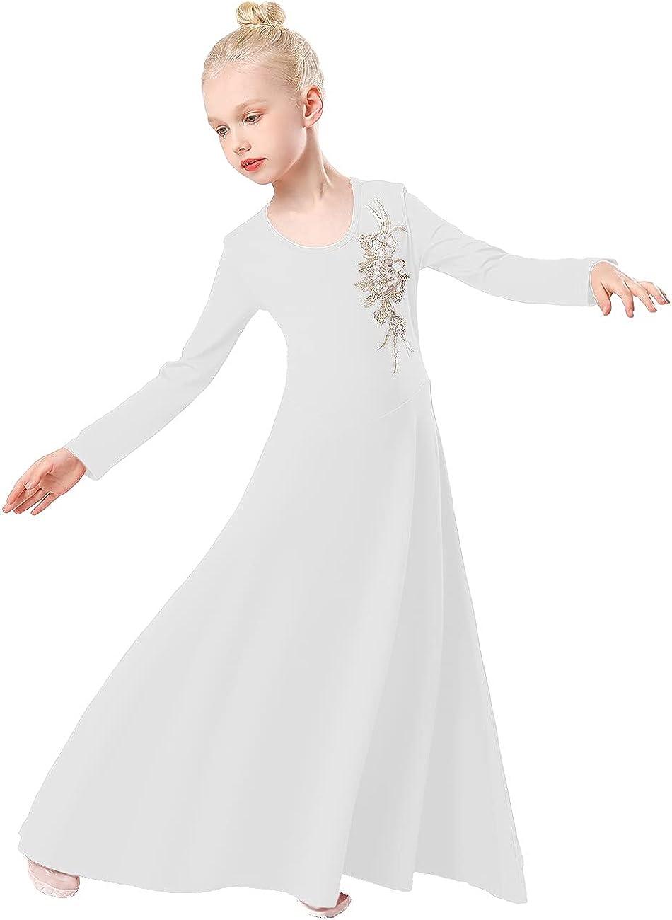 REXREII wholesale Girls Long Sleeve Worship Danc trust Costume Liturgical Praise