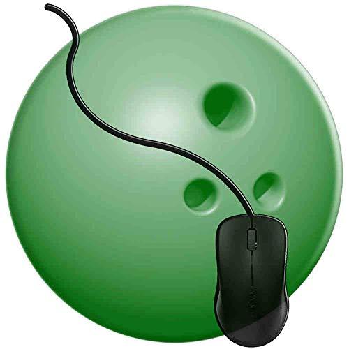 Gaming Mauspad Runde Kühle Grüne Bowlingkugel, Oberfläche verbessert Geschwindigkeit und Präzision rutschfest Mouse Pad Img2471